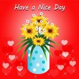 Ha en trevlig dag stock illustrationer