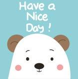 Ha en trevlig dag, björn vektor illustrationer