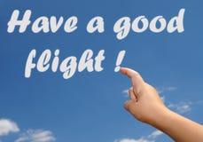 Ha ett bra flyg i himlen Arkivfoto