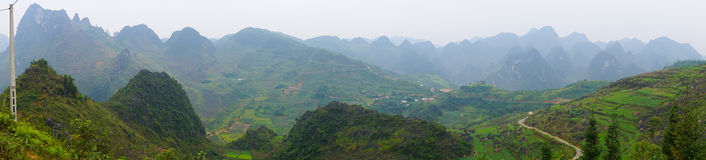 Ha Giang, the mountainous region in Vietnam Stock Photos
