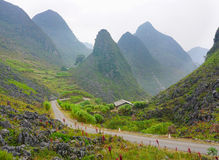 Ha Giang, the mountainous region in Vietnam. Landscape of Ha Giang, the mountainous region in Vietnam. Ha Giang. As Ha Giang is a mountainous region, the Stock Images