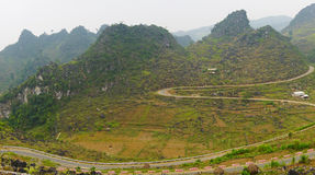 Ha Giang, the mountainous region in Vietnam Stock Image