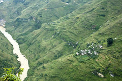 Ha Giang - Viet Nam berg Royaltyfri Foto
