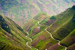 Ma Pi Leng pass in Vietnam. HA GIANG- VIETNAM: Landscape ma Pi Leng pass in Van, Ha Giang province, Vietnam.This is the most famous and dangerous pass in Stock Photography