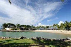 Härlig strand Arkivbild