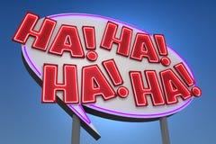 HA! HA! HA! HA! Неоновая вывеска шумового эффекта Стоковое Изображение RF