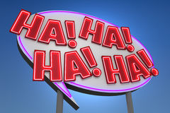 HA! HA! HA! HA! Sound Effect Neon Sign Royalty Free Stock Image