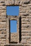 Ha Ha Tonka castle ruins. Windows from the castle ruins of Ha Ha Tonka state park royalty free stock photo