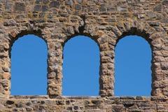 Ha Ha Tonka castle ruins. Arched windows of the castle ruins of Ha Ha Tonka state park stock image
