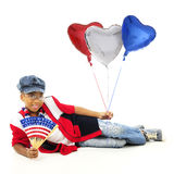 Ha hjärta för USA Fotografering för Bildbyråer