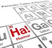 Ha-Humor-Element-Periodensystem-lustige Gelächter-Komödie Stockbild