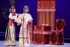 """Ha idén att rymma för att gifta sig-Kunqu västra Chamber†för opera""""the  Arkivbilder"""