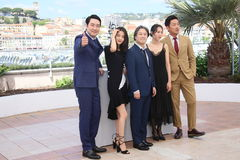 Ha Jung-Woo, actress Kim Min-Hee, director Park Chan-Wook, Kim Tae-Ri,  Cho Jin-Woon, Royalty Free Stock Images