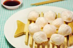 Ha-kao. Shrimp steamed dumpling or ha-kao is chinese food Stock Photos