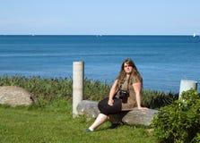 ha ladyrestyougn Royaltyfri Fotografi