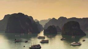 Ha-langer Schacht, Vietnam Etwas von der Landwirtschaftsware von diesem Bereich werden weltweit versendet Lizenzfreie Stockfotos
