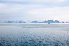 Ha Long. Traditional chinese sailboat floating on Ha long Bay, Vietnam Royalty Free Stock Photography