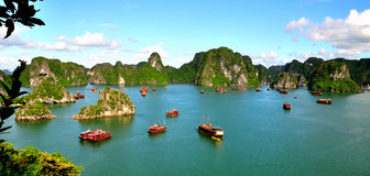 Ha Long Bay. Viewed from Ti Top Mountain Stock Image