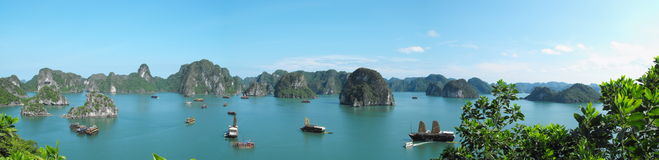 Ha Long Bay. Image of Ha Long Bay from the top of an island Stock Photos