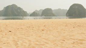 Ha Long Bay Beach. Vietnam. stock photos