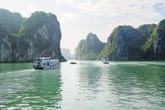Ha Long Bay boat tour stock photos