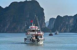 Ha Long Bay - cruise boat Stock Photo