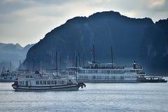 Ha Long Bay - cruise boat Royalty Free Stock Image