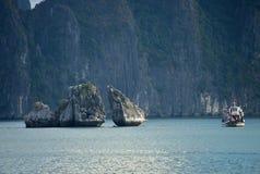 Ha Long Bay - cruise boat Stock Photos