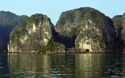 Ha Long Bay Destination Scenic. Popular travel destination  - scenic  view of a Limestone Karst in the UNESCO world heritage site of Ha Long Bay, Vietnam in the Stock Images