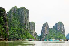 Ha Long Bay Floating Fishing Village, Vietnam UNESCO World Heritage Royalty Free Stock Image