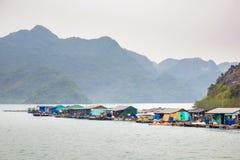 Ha Long Bay Floating Village Stock Photo