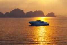 Ha Long bay green island Halong mountains Vietnam. Royalty Free Stock Photos