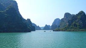 Ha Long bay islands stock photos