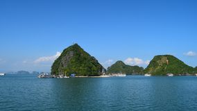 Ha Long bay islands Halong mountains in South China Sea, Vietnam. UNESCO World Heritage Site Asia.  stock images