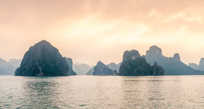 Ha Long Bay Islands Royalty Free Stock Photos