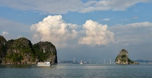 Ha Long bay - panoramatic view Stock Image