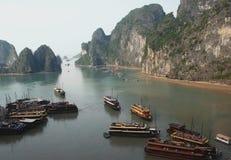 Ha Long Bay panoramic view Royalty Free Stock Images