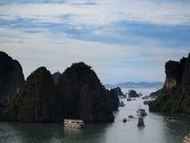 Ha Long Bay paradise holiday stock images