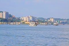 Ha Long Bay Sightseeing Boat, Vietnam UNESCO World Heritage Royalty Free Stock Image