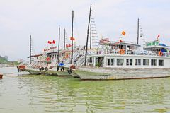 Ha Long Bay Sightseeing Boat, Vietnam UNESCO World Heritage Stock Photos