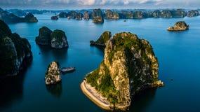 Ha Long Bay Sunrise Royalty Free Stock Photography