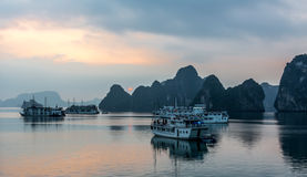 Ha Long Bay Sunrise Stock Photos