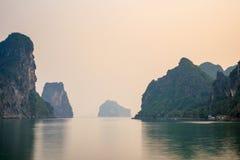 Ha Long Bay Sunset Stock Image