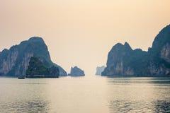 Ha Long Bay Sunset Royalty Free Stock Photo