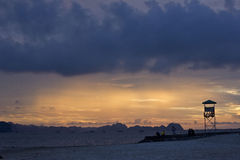 Ha Long bay sunset royalty free stock photography