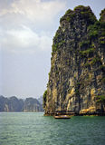 Ha Long Bay Vietnam. And Fishing Boat Stock Photos