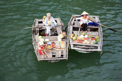 Ha Long Bay, Vietnam, floating market Royalty Free Stock Photography