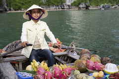 Ha Long Bay, Vietnam, Floating Market Royalty Free Stock Photography