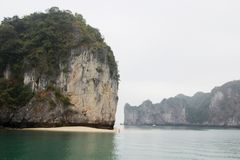 Ha Long bay, Vietnam. Ha Long Bay is a UNESCO World Heritage Site and popular travel destination in Quang Ninh Province, Vietnam. The bay features thousands of stock photo