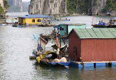 Ha Long Bay, Vietnam, houseboats Stock Photos